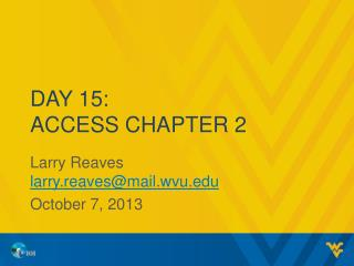 Day 15: Access Chapter 2