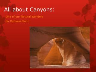 All about Canyons: