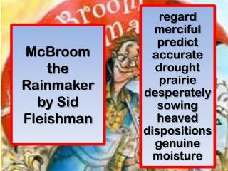 McBroom the Rainmaker by Sid Fleishman