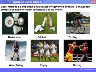 Sport refers to a competitive physical activity governed by  rules  to ensure fair
