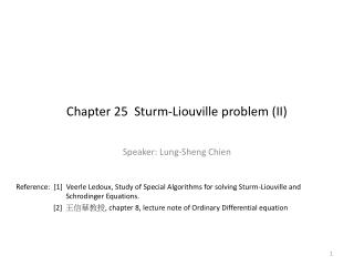 Chapter 25  Sturm-Liouville problem II