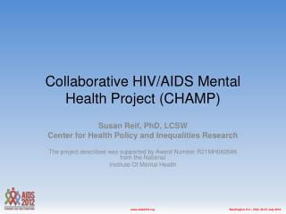Collaborative HIV/AIDS Mental Health Project (CHAMP)