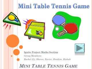 Mini Table Tennis Game