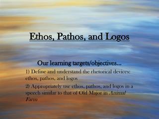 Ethos, Pathos, and Logos
