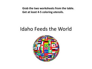 Idaho Feeds the World