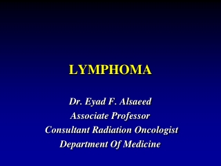 Management of Early Stage Diffuse Large B-Cell Lymphoma