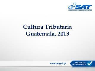 Cultura Tributaria Guatemala, 2013
