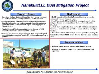 Nanakuli /LLL Dust Mitigation Project