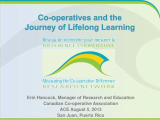 Co-operatives and the  Journey  of Lifelong Learning