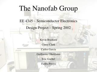 The Nanofab Group