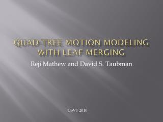 Quad-Tree Motion Modeling with Leaf Merging