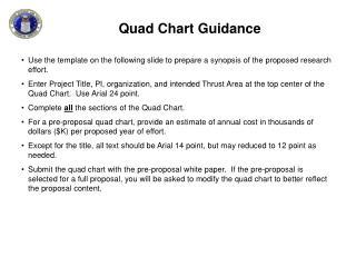Quad Chart Guidance