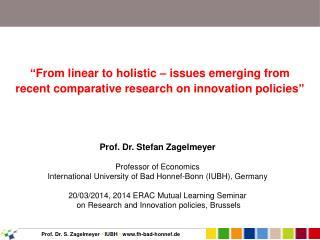 Prof. Dr. Stefan Zagelmeyer Professor of Economics