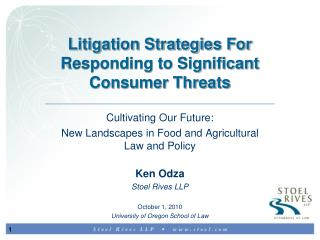 Litigation Strategies For Responding to Significant Consumer Threats