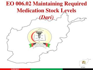 EO 006.02 Maintaining Required Medication Stock Levels (Dari)