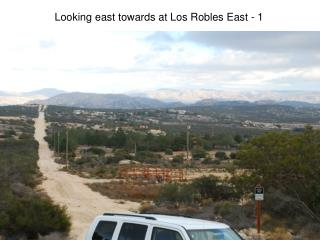 Looking  east towards at Los Robles East  - 1