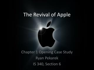 The Revival of Apple