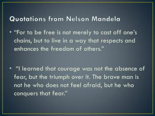 Quotations from Nelson Mandela
