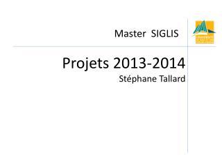 Master  SIGLIS
