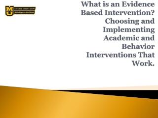 Effective Classroom Practice  Academic Success  Task Difficulty