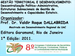 GESTÃO TERRITORIAL E DESENVOLVIMENTO: