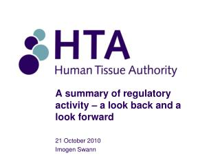 A summary of regulatory activity – a look back and a look forward
