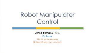 Robot Manipulator Control