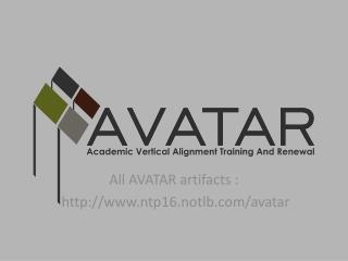 All AVATAR artifacts : ntp16.notlb/avatar