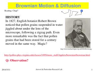 Brownian Motion  Diffusion
