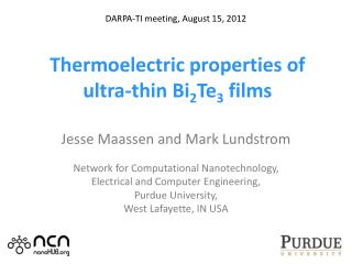 T hermoelectric properties of ultra-thin Bi 2 Te 3  films