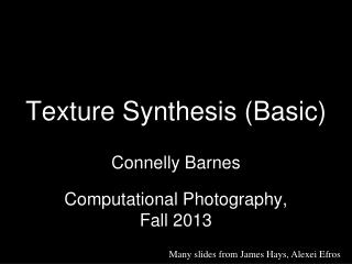 Texture Synthesis (Basic)