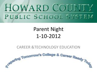 Parent Night  1-10-2012
