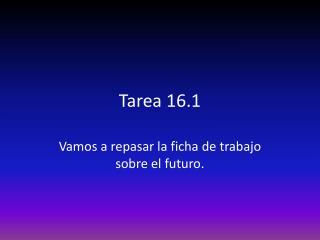 Tarea  16.1