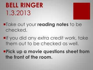 BELL RINGER 1.3.2013