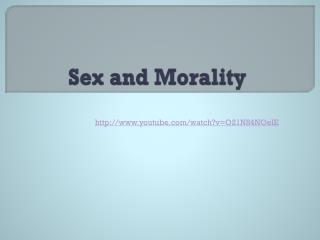 Sex and Morality