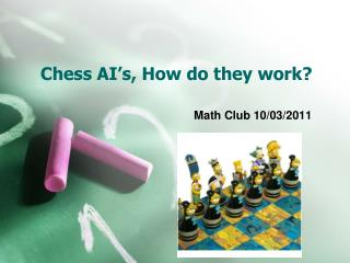 Chess AI's, How do they work?