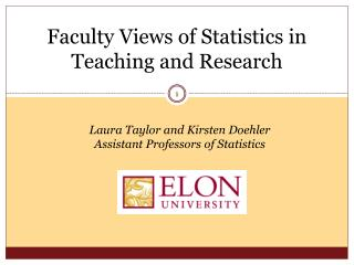 Faculty Views of Statistics in Teaching and Research