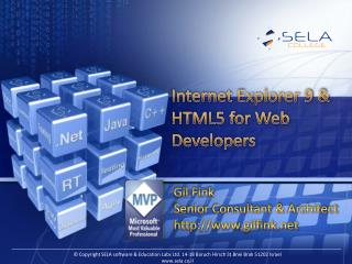Internet Explorer 9 & HTML5 for Web Developers