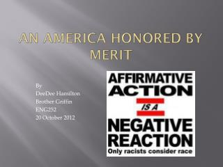 An America Honored by Merit