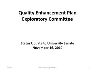 SACS Core Requirement 2.12 (The Quality Enhancement Plan)
