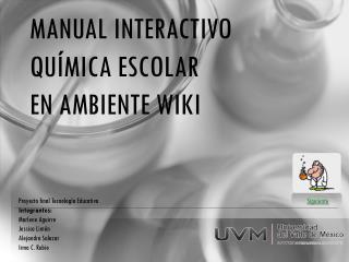 Manual interactivo química escolar en ambiente wiki