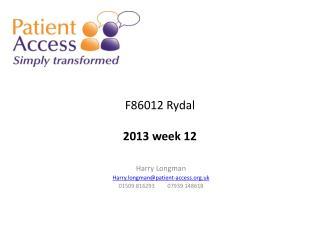 F86012 Rydal 2013 week  12