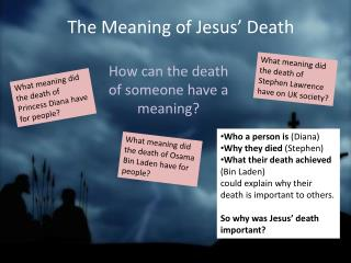 The Meaning of Jesus� Death