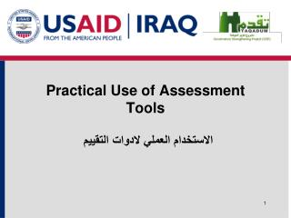 Practical Use of Assessment Tools