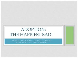 ADOPTION: The happiest sad
