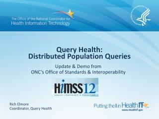 Query Health: Distributed Population Queries