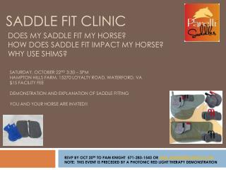 SADDLE FIT CLINIC