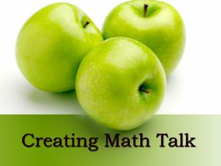 Creating Math Talk