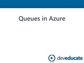 Queues in Azure