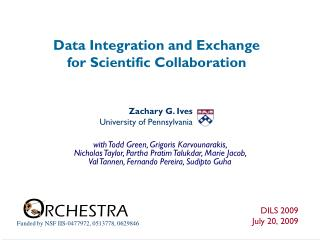 Data Integration and Exchange  for Scientific Collaboration